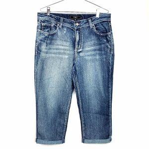 Cato Women's Capri Jeans Bermuda Shorts Denim 14